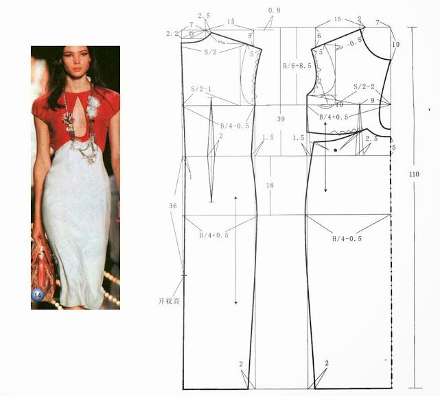 dresses (Chinese method of pattern making) | COSER Y CANTAR ...