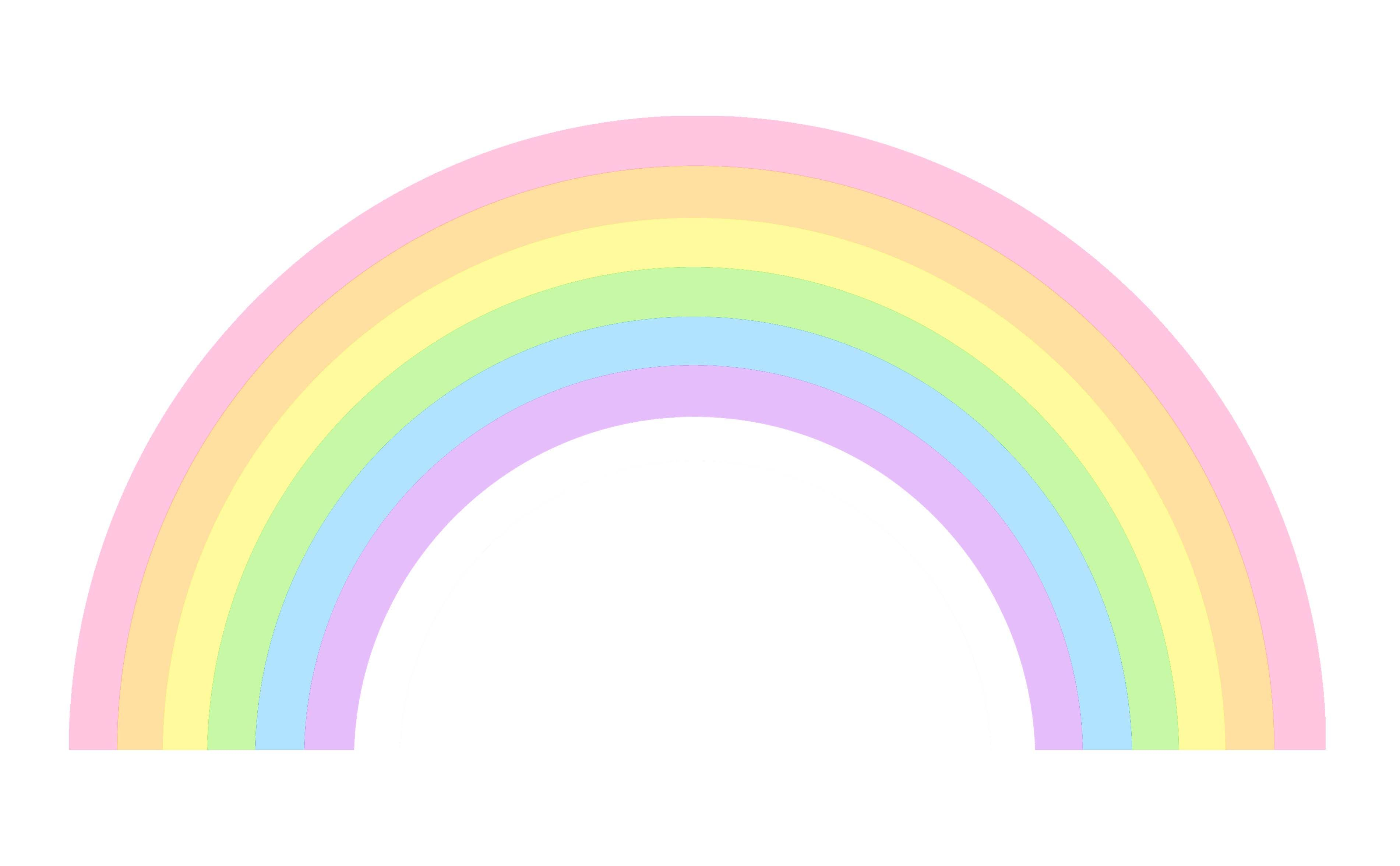 Free clip art of a cute little pastel rainbow (With images ...