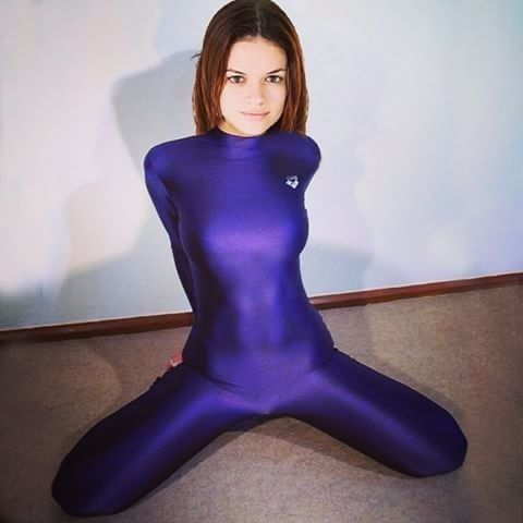 Remarkable Women in cotton spandex fetish