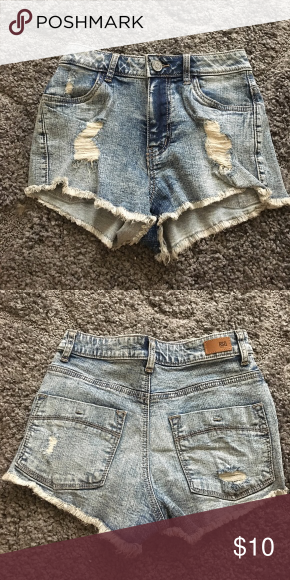 High waisted jeans High waisted jeans size 1 worn once! RSQ jeans Shorts Jean Shorts