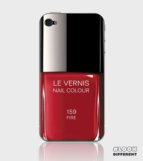 iPhone 5 / 5S or iPhone 4 / 4S Nail Polish Red by designskins, $3.49 ...