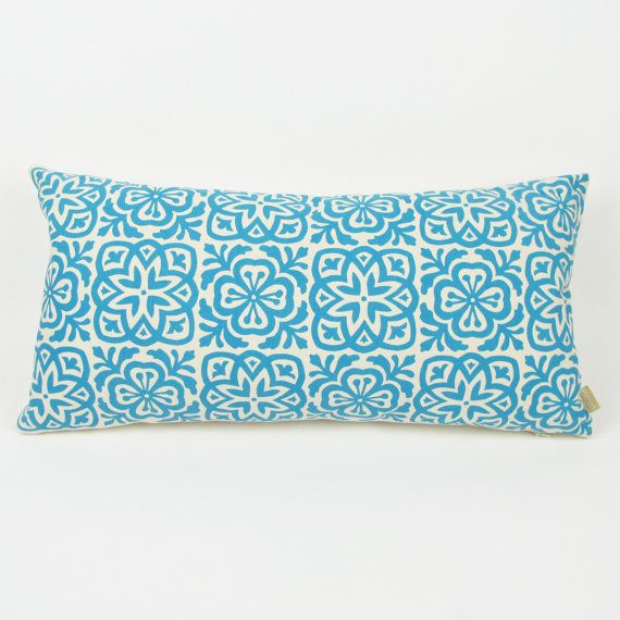 Moroccan Tile Slim Pillow choice of 3 colours by HelenRawlinson