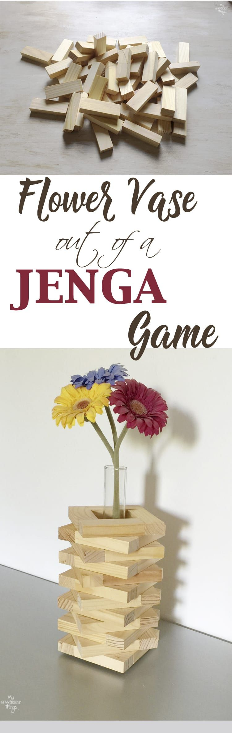Flower Vase Out Of Jenga Game {and Keep Kids Busy} Home