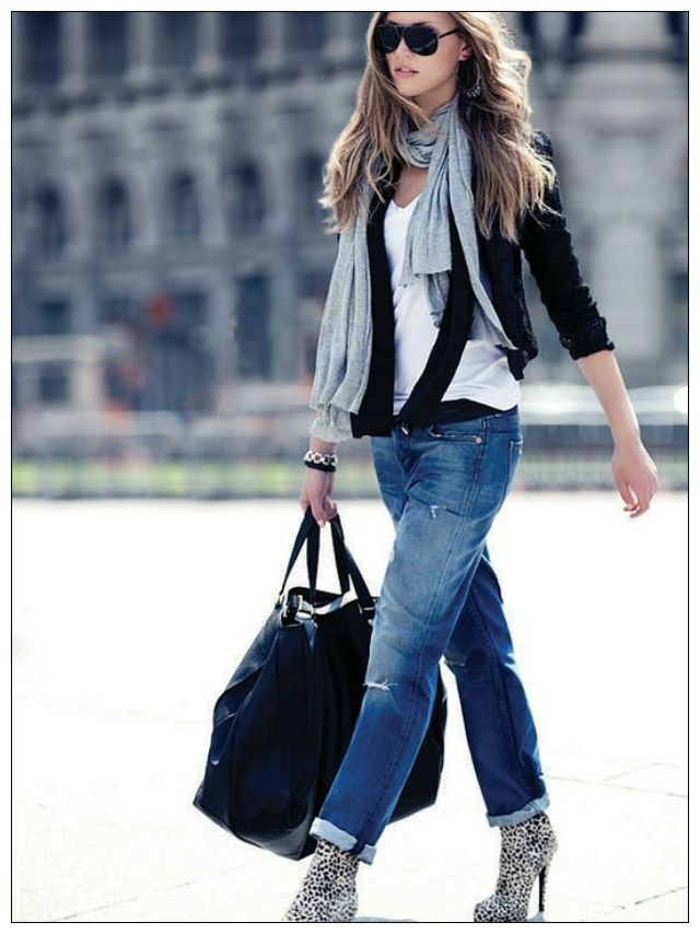 Gordon and Gold: Sunday Style Inspiration: Boyfriend Jeans