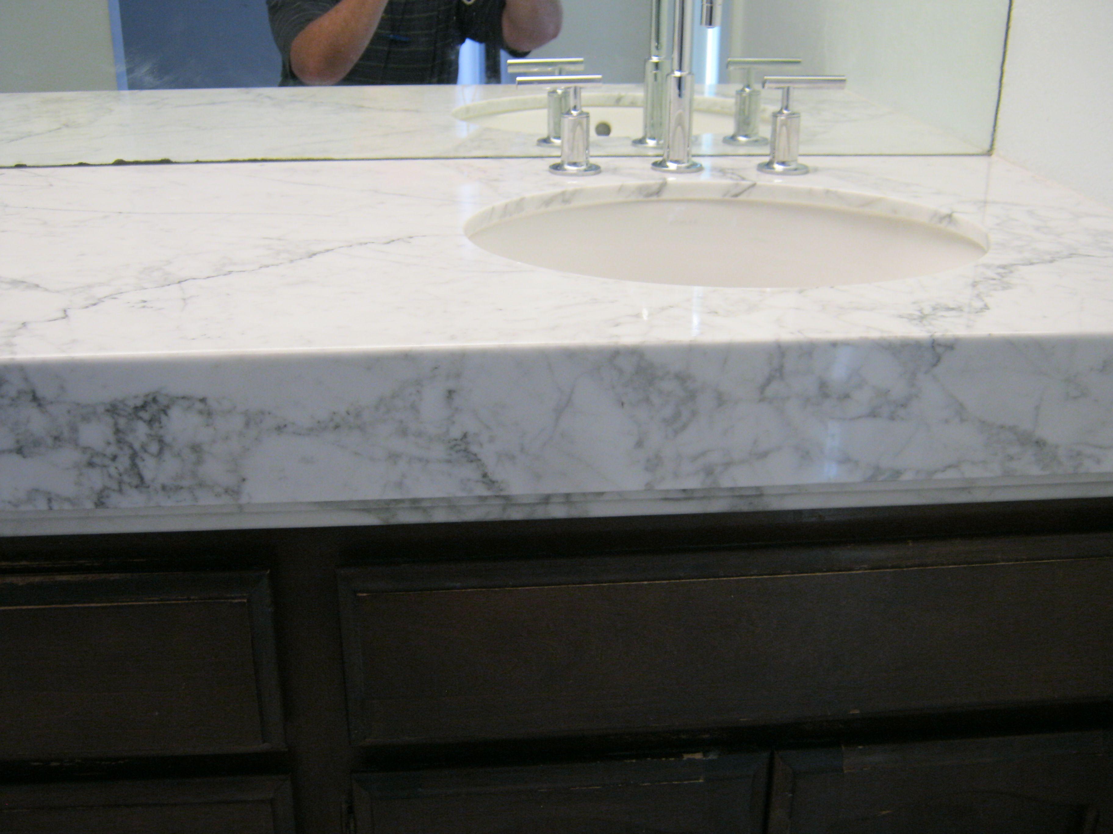 White Carrara Forzastone Bathroom Countertop Home Stone Panels