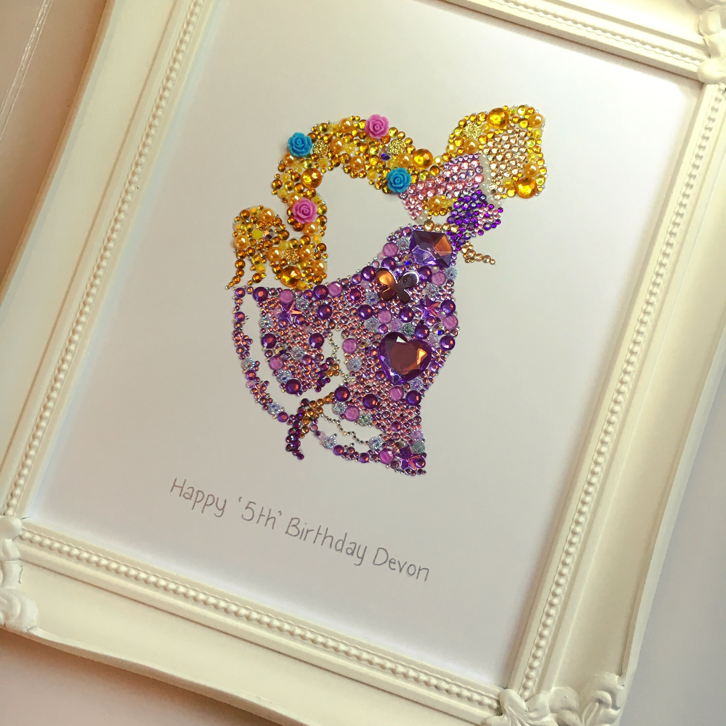 Tangled Rapunzel Button Art Button Picture Swarovski Crystal Picture Disney Princess Princess Gifts Gi Disney Button Art Button Art Disney Handmade Gifts