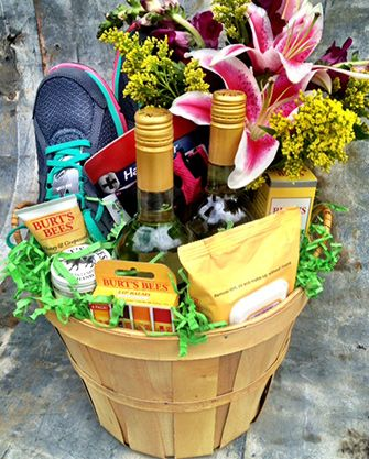 Great Gift Basket For The Runner In Your Life Work Together With Flowers At Will To Create A Memorable Delivered Their Door