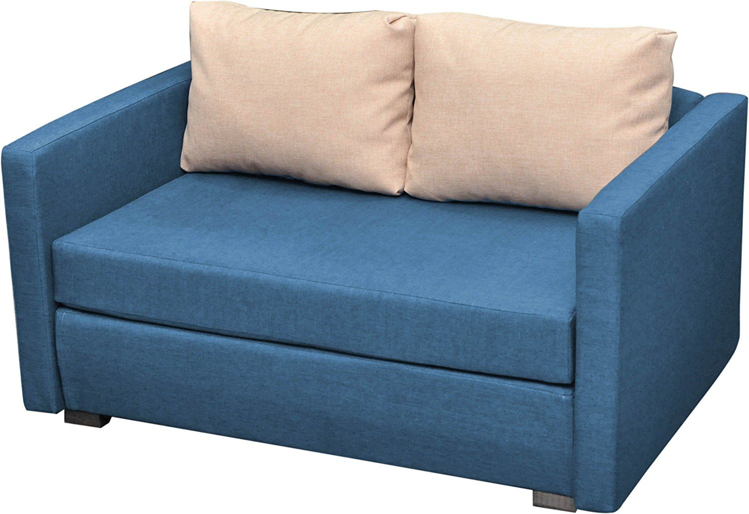 Moderne Sofa Vcm Engol 2 Seater Sit N Sleep Couch Blue Comfy Sofa