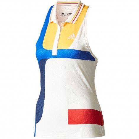 Adidas New York Colorblock tennis tanktop dames chalk white ...