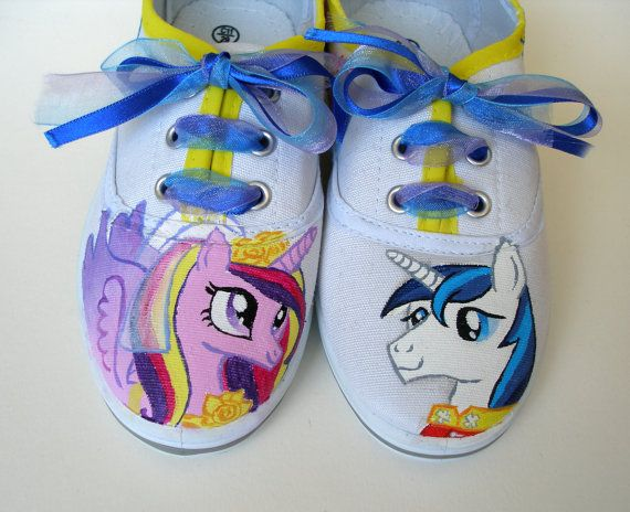 Hand painted Children My Little Pony shoes Princess by BeressyArt, £24.00