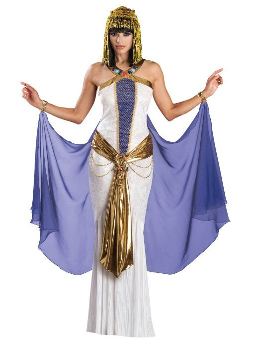 Amazon.com: Sexy White Dress Cleopatra Costume Egyptian Goddess Womens Theatrical Costume: Clothing