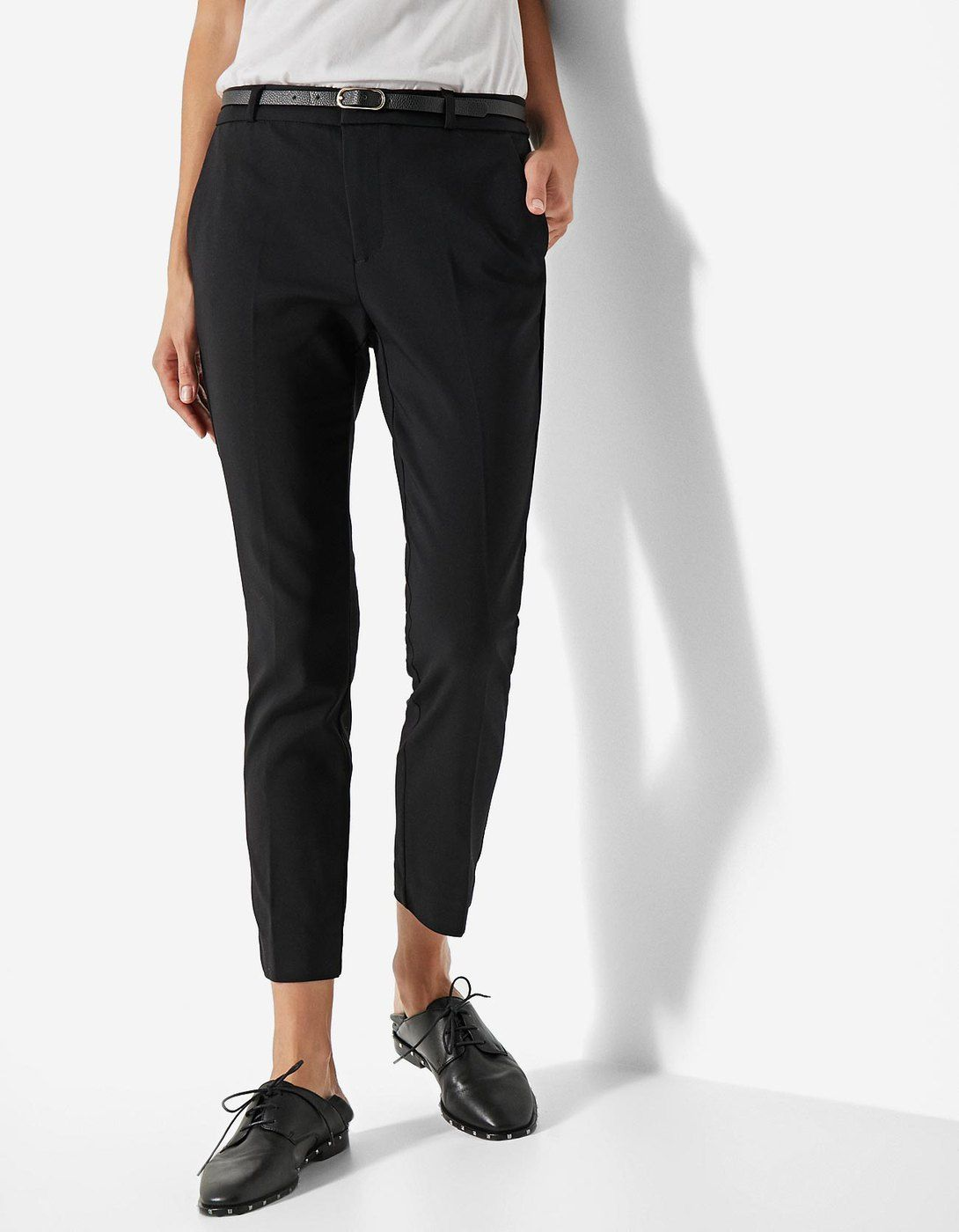 Pantalón vestir con cinturón - Pantalones  af3d4ba03ca6
