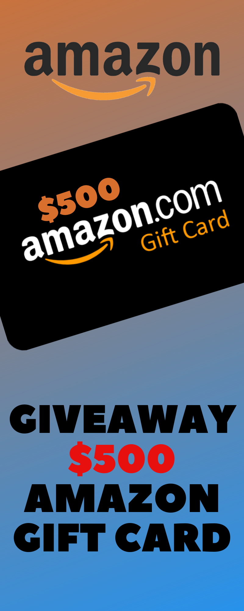 Win 500 Amazon Gift Card Amazon Gift Cards Amazon Gift Card Free Best Gift Cards