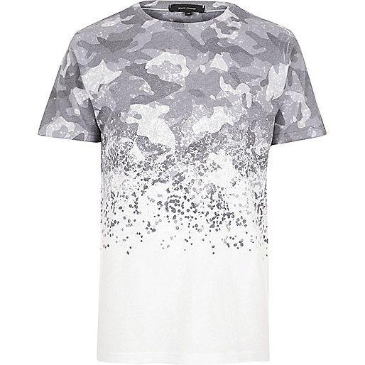 White faded camo T-shirt - print t-shirts - t-shirts   vests - men ... 31dd960dd67