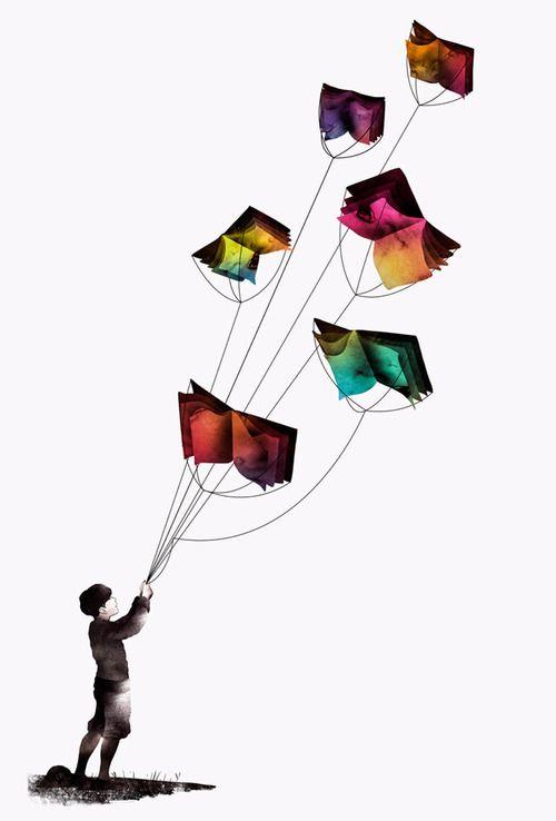 La lectura hará volar tu imaginación #lectura #libros #imaginación