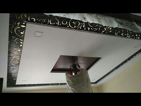 Acrylic Jali Design Fitting On Gypsum Board False Ceiling