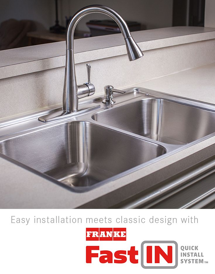 easy installation meets classic design with frankes fast in quick install kitchen sinks. Interior Design Ideas. Home Design Ideas