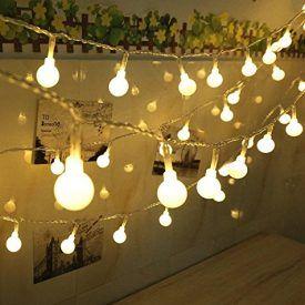 Decorative String Lights For Bedroom Globe String Lights  Leazeal 33Feet 100 Led String Lights For
