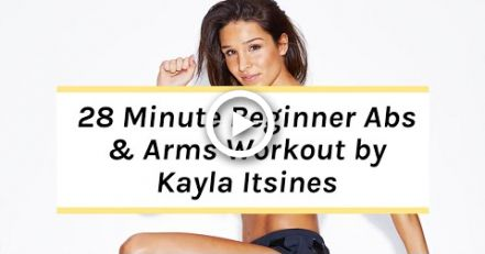 Kayla Itsines Workout | No Kit Arms + Abs Beginner Session #fitness