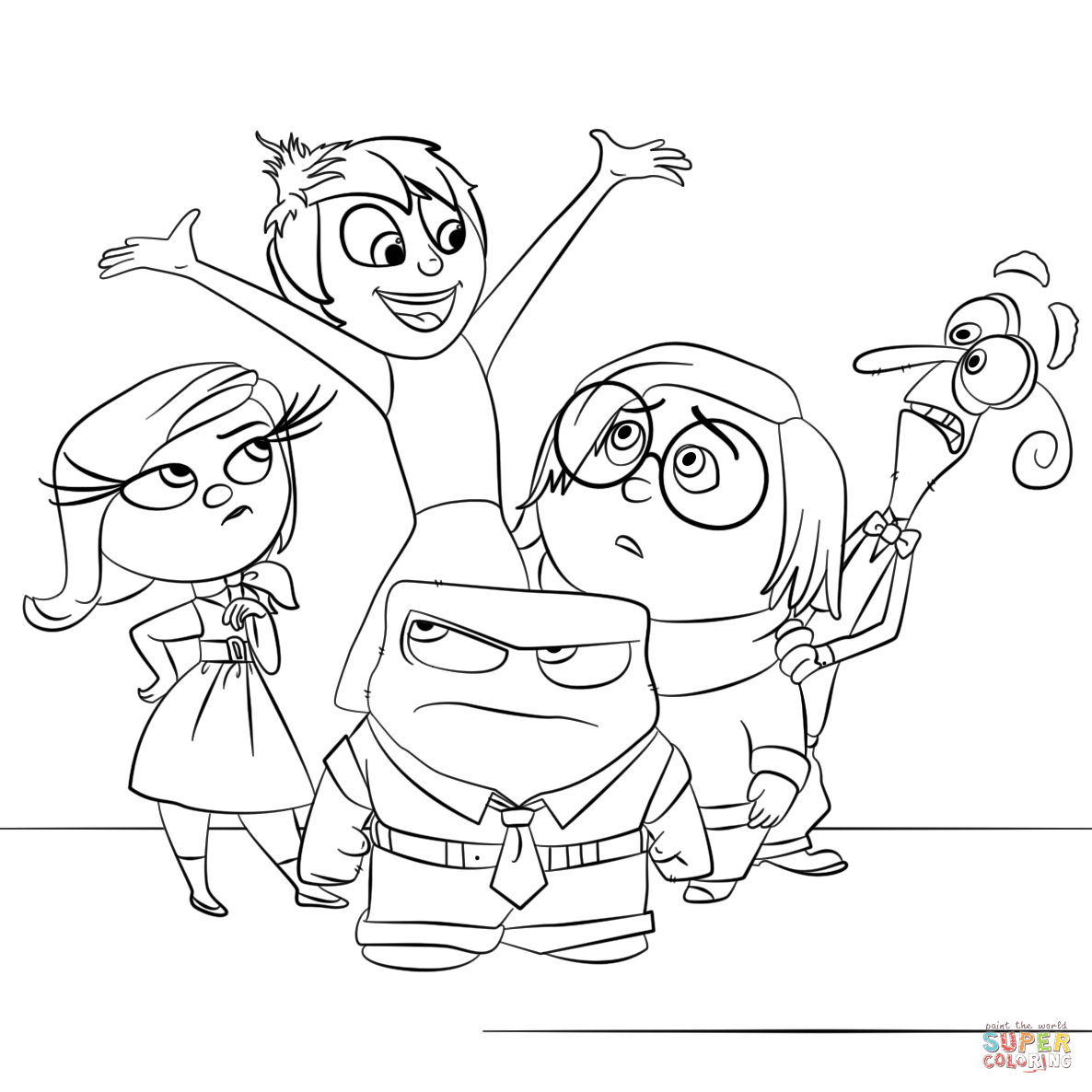 Inside Out All Characters Super Coloring Mental Illness