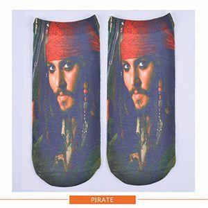 3D Print sock famous star people cotton Polyester Contrast women Socks