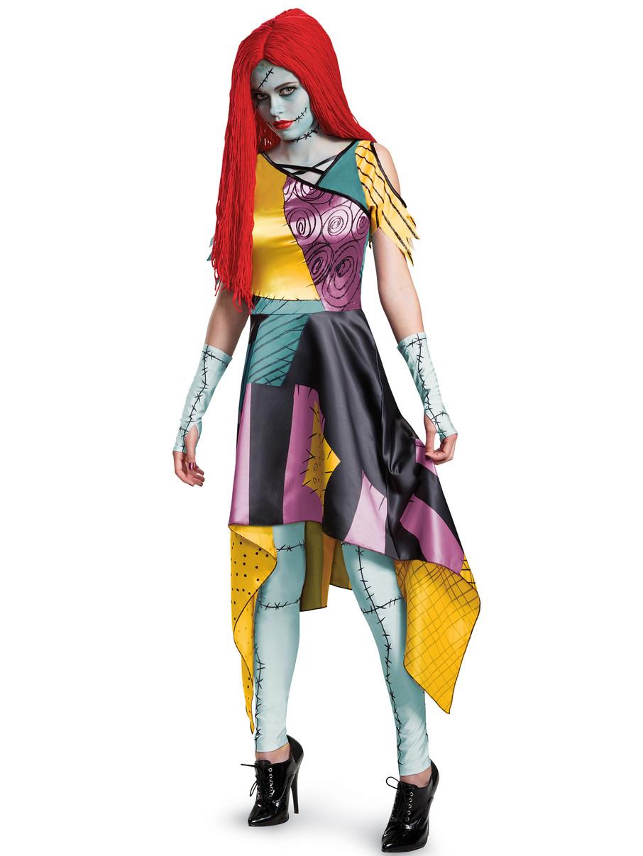 Sally Nightmare Before Christmas Ladies Fancy Dress Halloween Womens Costume New