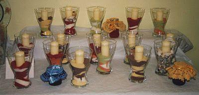 Longchamp Bricole: Vase : décor sable et bougie | déco table ...