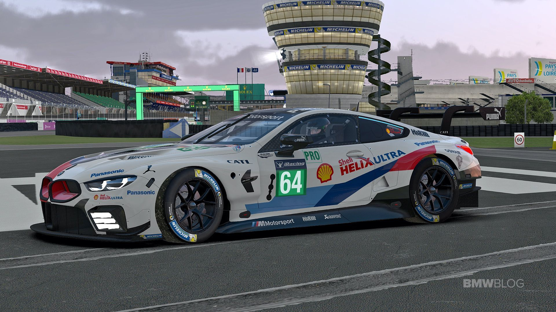 Bmw M8 Gte Is In Action At The First Bmw 120 At Le Mans On