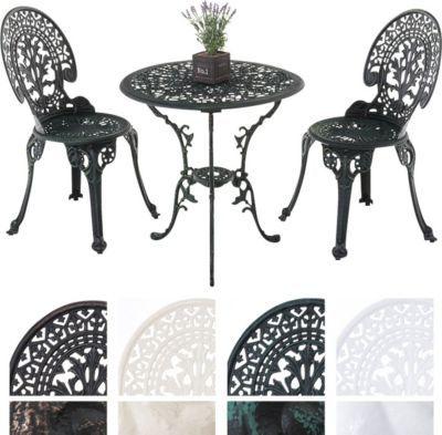 Garten Sitzgruppe VISHNU, Guss-Eisen, Design nostalgisch antik - esstisch antik designer moebel