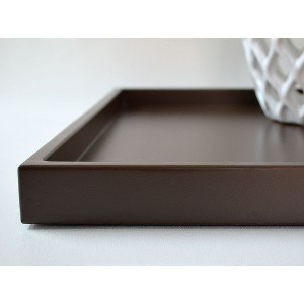 Black Decorative Tray Best Dark Brown 14 X 18 Shallow Decorative Tray Lacquered Wood Serving Design Decoration