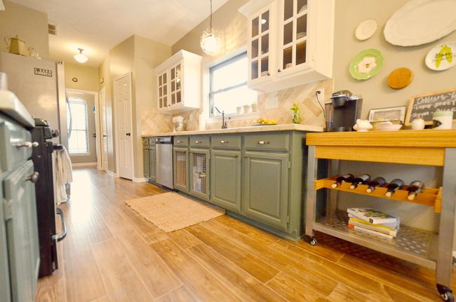 Paint your upper cabinets a different color from the base ...