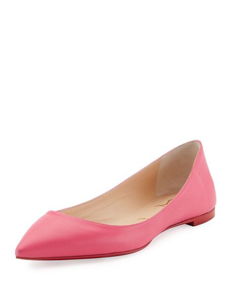 7f6e44cf96e7 CHRISTIAN LOUBOUTIN Ballalla Smooth Leather Red Sole Ballerina Flat.   christianlouboutin  shoes  flats