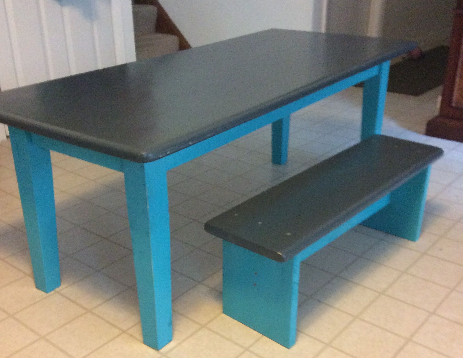 Recycled kitchen table to new play table for the kids! The brightest ...
