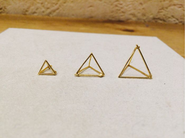 triangle pierced earrings