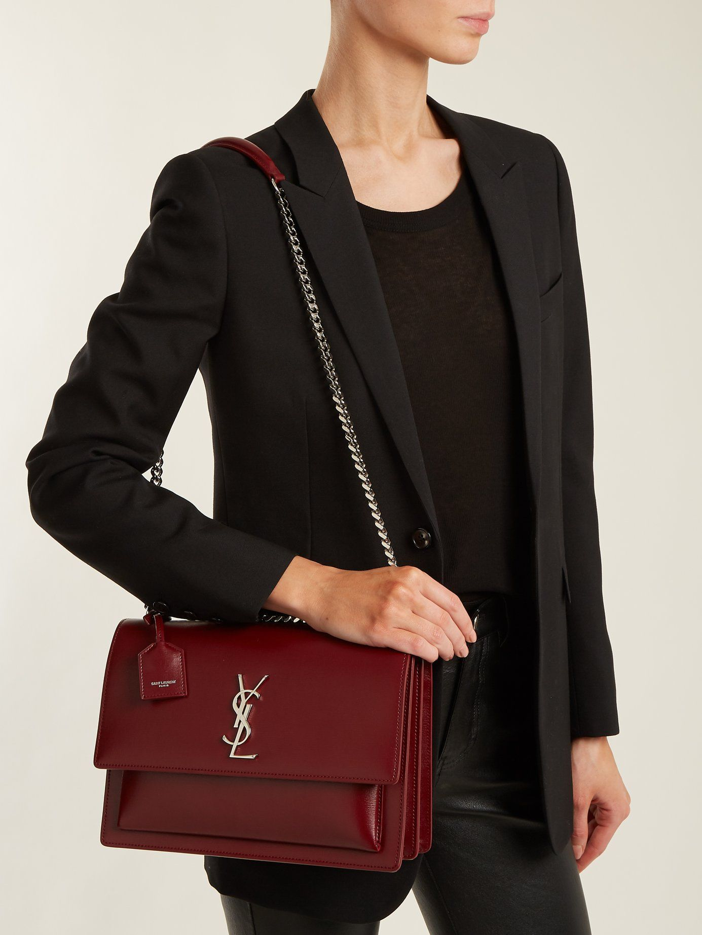 07a6c67485c Sunset large leather shoulder bag | Saint Laurent | MATCHESFASHION.COM AU
