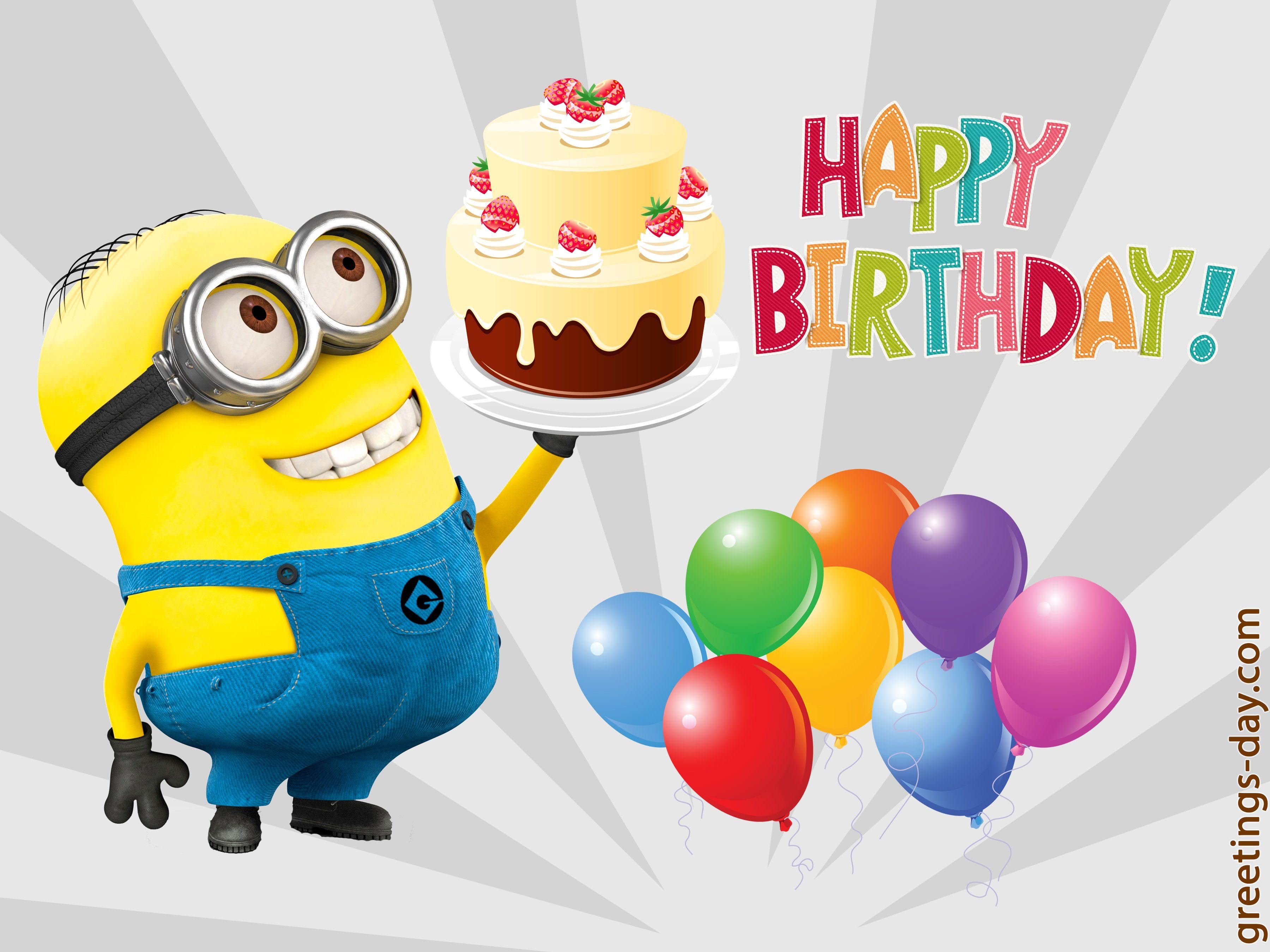 Pin By Diana Pawlik On Minions Rule Happy Birthday Minions Happy Birthday Song Happy Birthday Photos