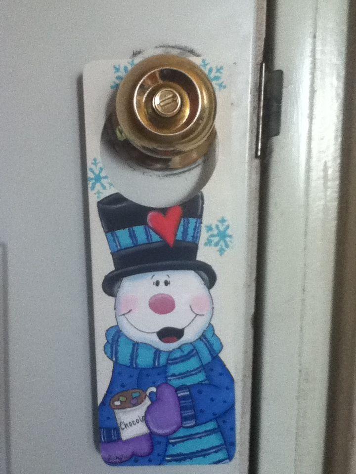 Picaporte navide o snowmen pinterest navidad de puerta y colgadores para puertas - Arreglo de puertas de madera ...