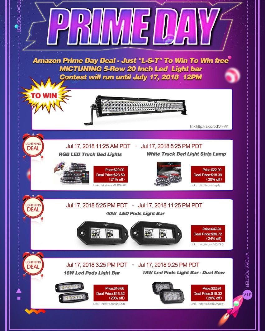 Mictuning Doing A Led Light Bar Giveaway Primeday Amazon