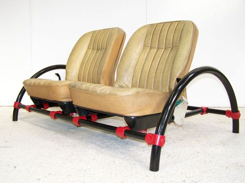 Awesome VINTAGE ROVER CAR SEAT TOP GEAR RON ARAD ROVER SCAFFOLD SOFA CHAIR 70s 80s  90s