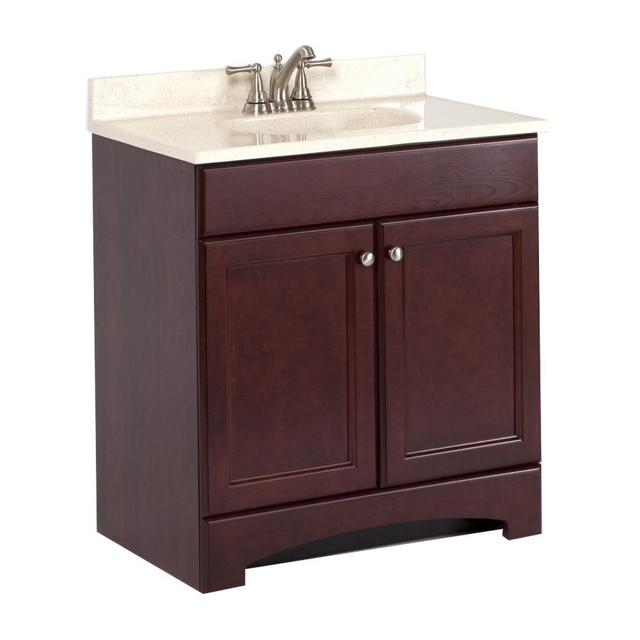 Shop Style Selections 30 5 8 In X 18 3 4 In Cherry Single Sink