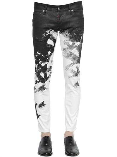 c5a6998fc2d56 DSQUARED2 - 16.5CM CLEMENT FIT COATED DENIM JEANS | Editor's Picks ...