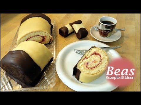 Marzipan Biskuit Creme Rolle - DESSERT BARREN Rezept | ➽ Widerlich lecker - YouTube