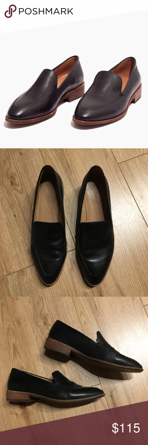 48b367dc261 Madewell Frances Loafers Worn once on carpet! Streamlined loafers in a  sleek new shape.