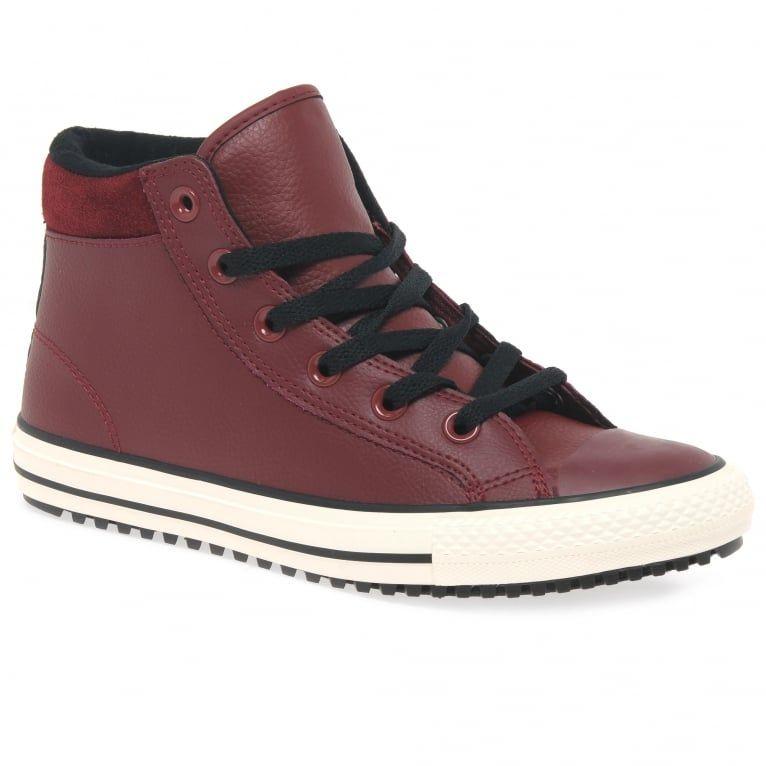 d333fb03f3f7 Converse Weatherised Hi Boys  Red Boots