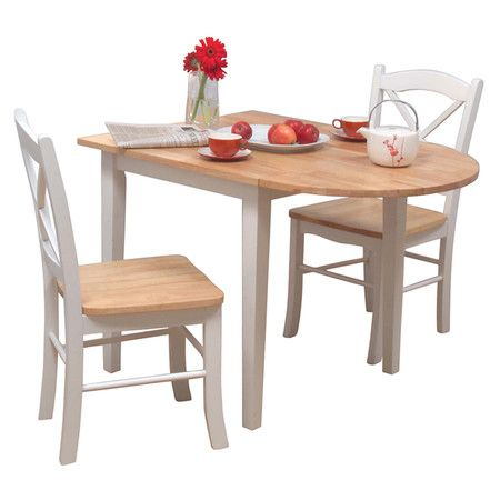 Found It At Wayfair Tiffany 3 Piece Dining Set In White Natural Kitchen Dining Sets Nook Dining Set Breakfast Nook Dining Set