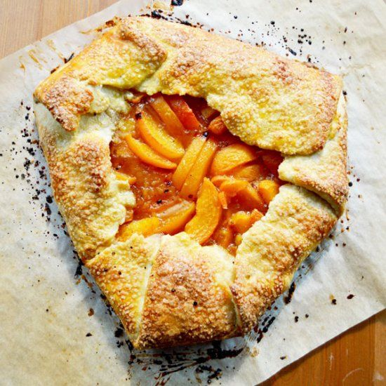 Apricot Galette - a rustic-free form tart that is beautiful and effortlessly sophisticated.