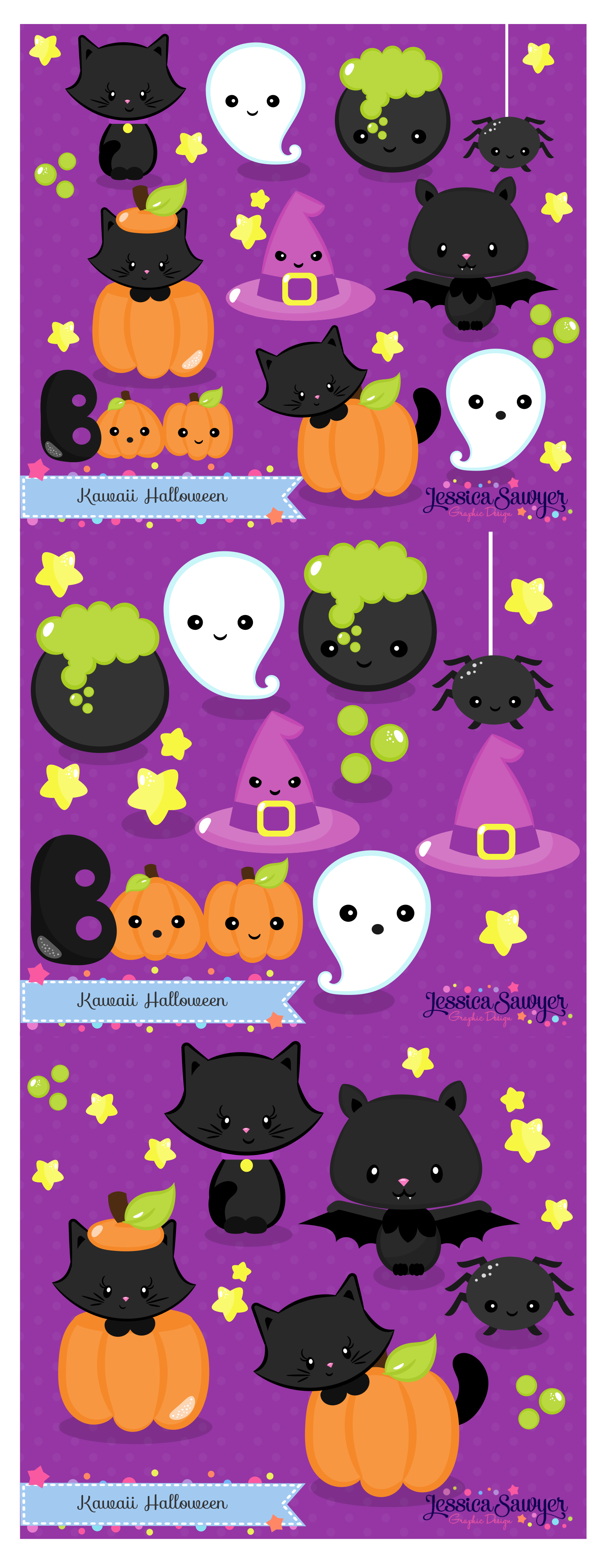 halloween clipart and cute drawings for planner stickers crafts