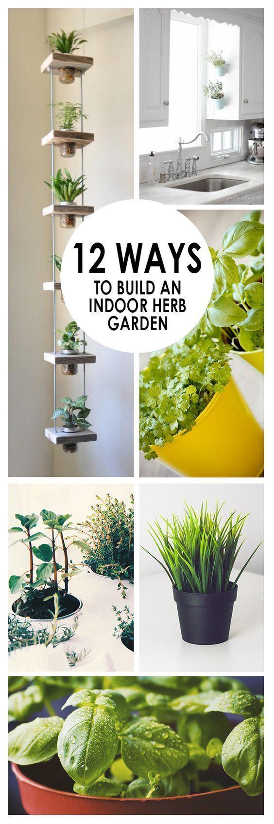 12 ways to build an indoor herb garden gardening indoor vegetable gardening herbs indoors. Black Bedroom Furniture Sets. Home Design Ideas