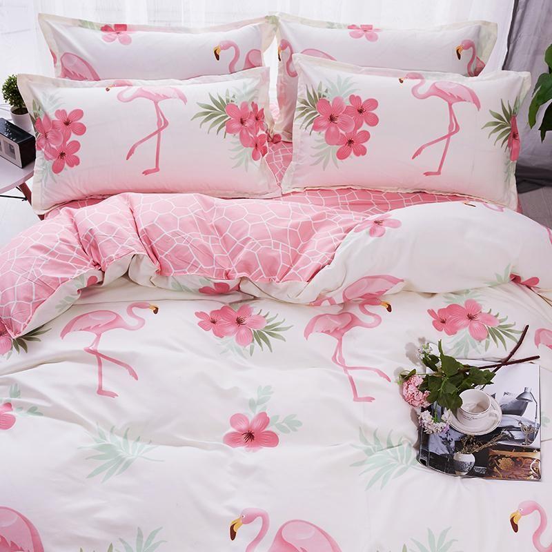 5b6037a14c Flamingo Bedding Set – Unilovers | Flamingo | Bed, Luxury duvet ...