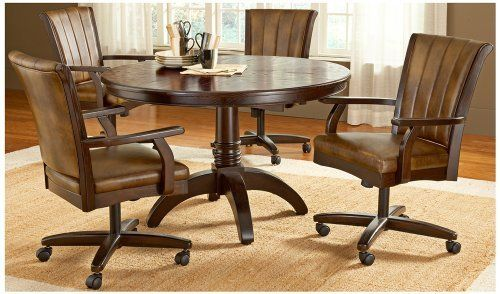 Brilliant Hillsdale Grand Bay Round With Casters 5 Piece Dining Set By Alphanode Cool Chair Designs And Ideas Alphanodeonline